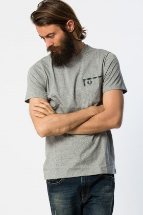 Fred Perry - Tartan Trim Pocket Tshirt