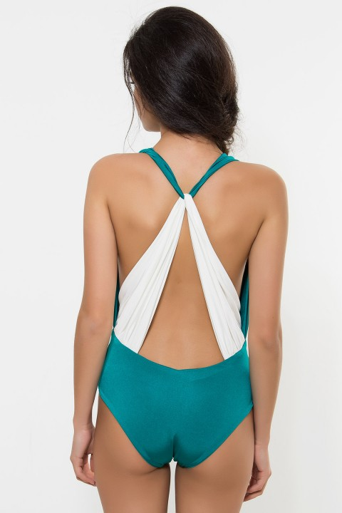 Nur Karaata The 'Dream Swimsuit' Green Special Price