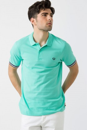 Fred Perry - Striped Cuff Shirt Erkek Polo Tişört