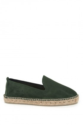Manebi - Hamptons Suede Leather Loden Green Espadril