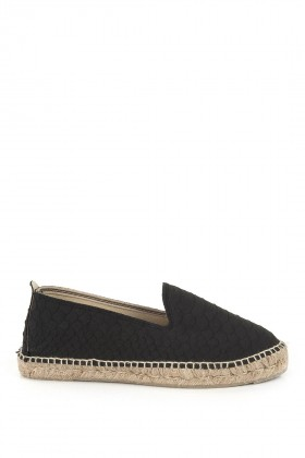 Manebi - Amazonia Embossed Leather Black Python Espadril