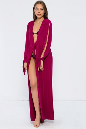 Nur Karaata - Must-Have Cover Up Fuşya Pareo