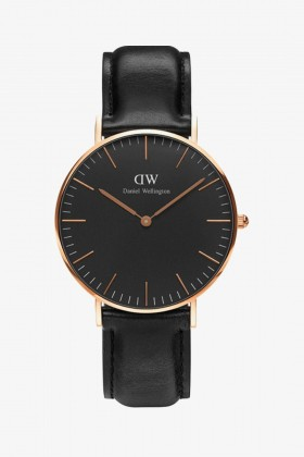 Daniel Wellington - Black Sheffield Horloge 36mm Kol Saati-DW00100139