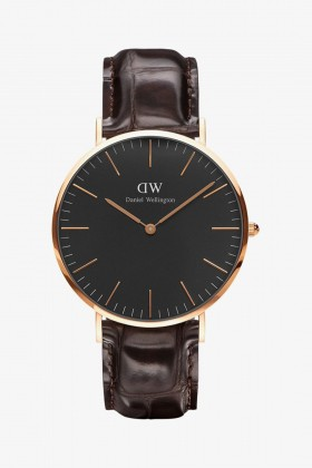 Daniel Wellington - Daniel Wellington Men Classic Black York Rose Gold 40Mm