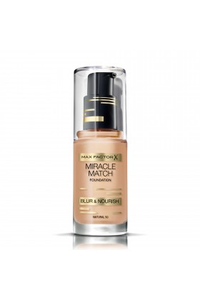 Max Factor - Max Factor Miracle Match Fondöten 50 Natural