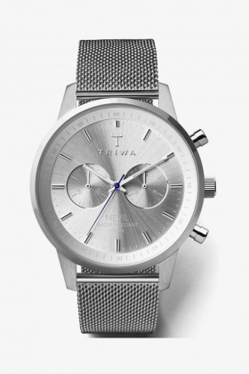 Triwa - Triwa Nevil Chrono Stirling Steel Mesh Kol Saati