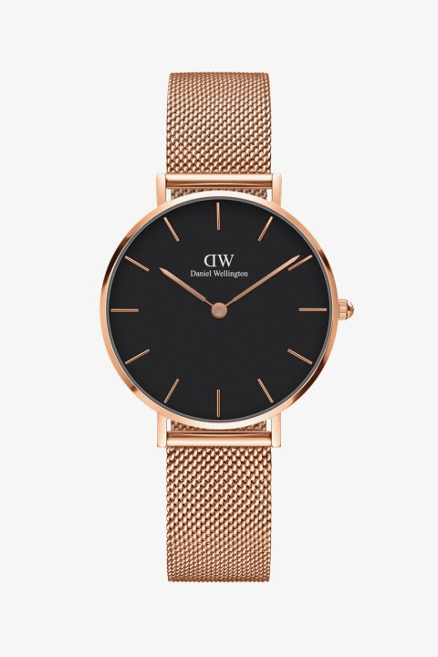 Daniel Wellington Daniel Wellington Women Classic Petite Melrose Rose Gold & Black - 32Mm