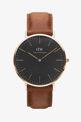 Daniel Wellington - Daniel Wellington Men Classic Black Durham Rose Gold 40Mm