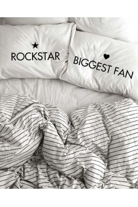 Pillow Talk - Rockstar - Biggest Fan Yastık Kılıfı