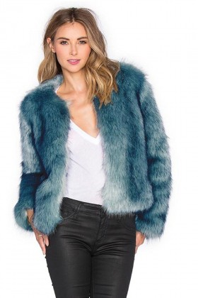 Ilqara - Blue Dream Faux Fur Jacket
