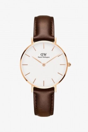 Daniel Wellington - Daniel Wellington Women Classic Petite Bristol White Rose Gold - 32Mm