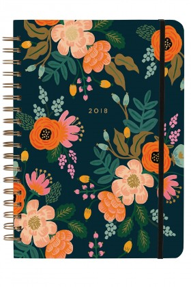 Rifle Paper Co. - 2018 Lively Floral Spiral Bound Planner