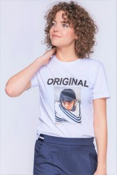Lidyana Collection - Daytime Önü Baskılı Beyaz T-Shirt