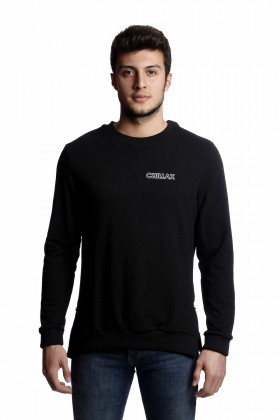 Tou Clothing - Chillax Siyah Sweatshirt
