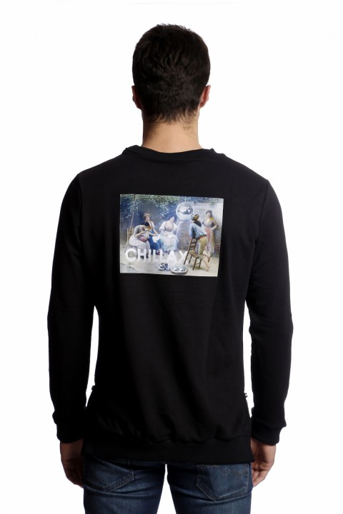 Tou Clothing Chillax Siyah Sweatshirt