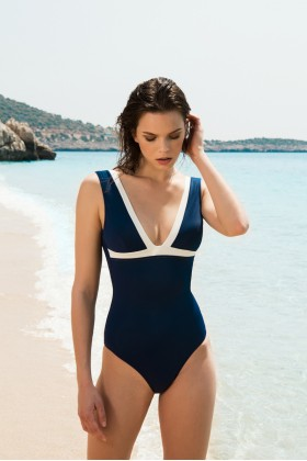 Anais Margaux Paris - Blanche Navy Blue Swimsuit