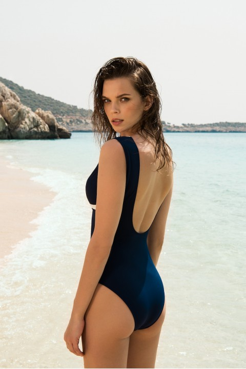 Anais Margaux Paris Blanche Navy Blue Swimsuit