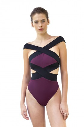 Movom Swimwear - Barbara Banded Cross Swimsuit