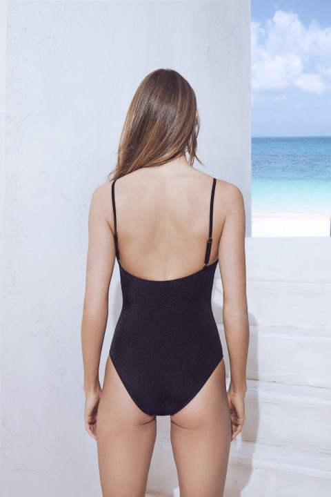 Selyn's Beachcouture Pearl Siyah Swimsuit