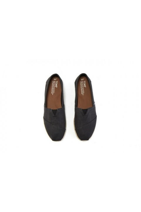 Toms Black Linen Rope Men Alpargata
