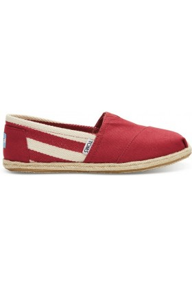 Toms - Red Stripe University Women Classic Alpargata