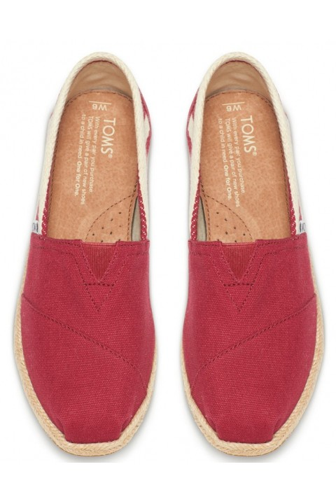 Toms Red Stripe University Women Classic Alpargata