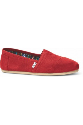 Toms - Red Canvas Men Alpargata