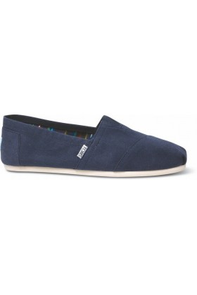 Toms - Navy Canvas Men Classic Alpargata