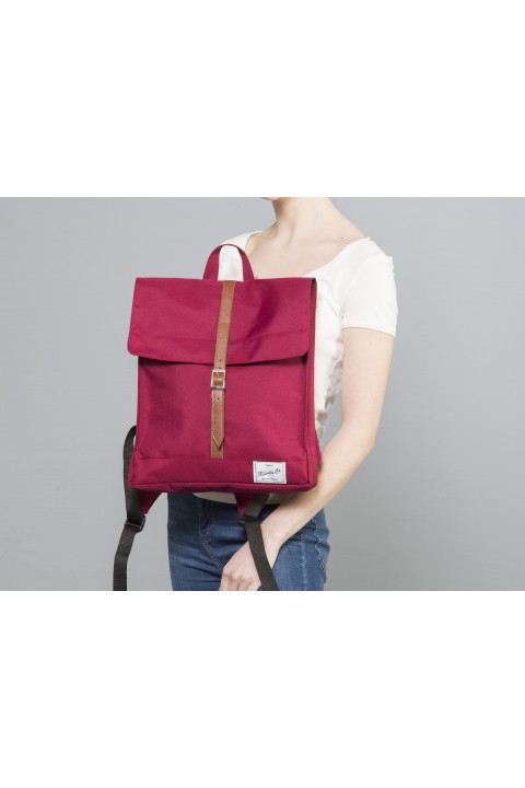 Fudela & Co MBS Burgundy Backpack