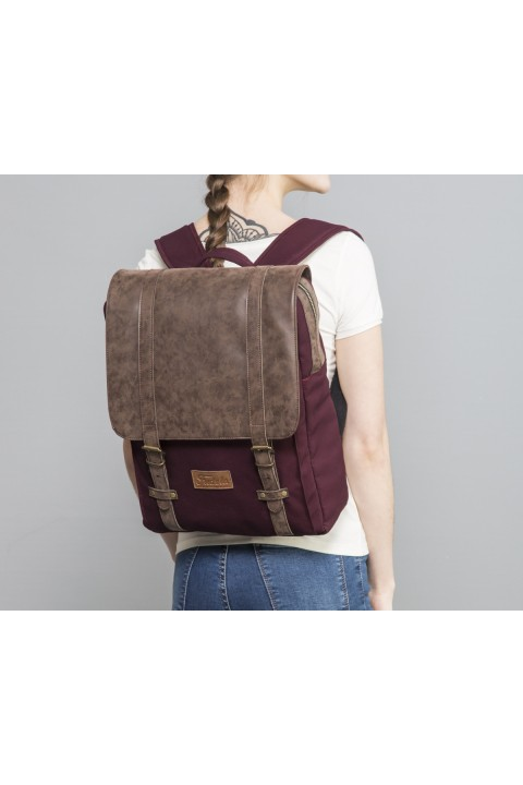 Fudela & Co NYP Burgundy Backpack