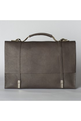 Tox Leather - Gri Messenger Çanta