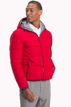Tommy Hilfiger - REVERSIBLE HOODED BOMBER