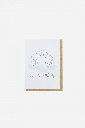 Paper Street Co.  - Just Bear With Me Kartpostal