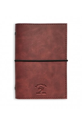 Le Color  - Le Color Handmade Leather Notebook Burgundy
