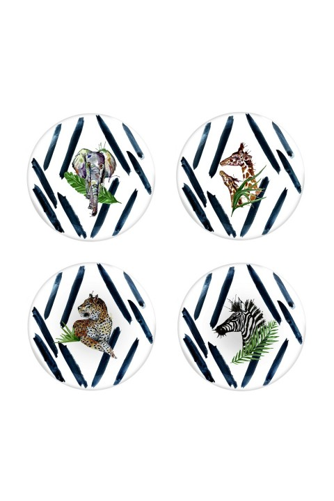 Fern&Co. Fern&Co 4'lu Serengeti Collection The Wild Mix Buyuk Tabak Seti