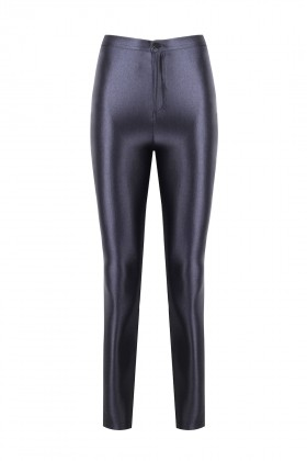 Anais Margaux Paris - Cecile Anthracite Grey Shiny Pants