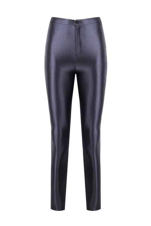 Anais Margaux Paris Cecile Anthracite Grey Shiny Pants