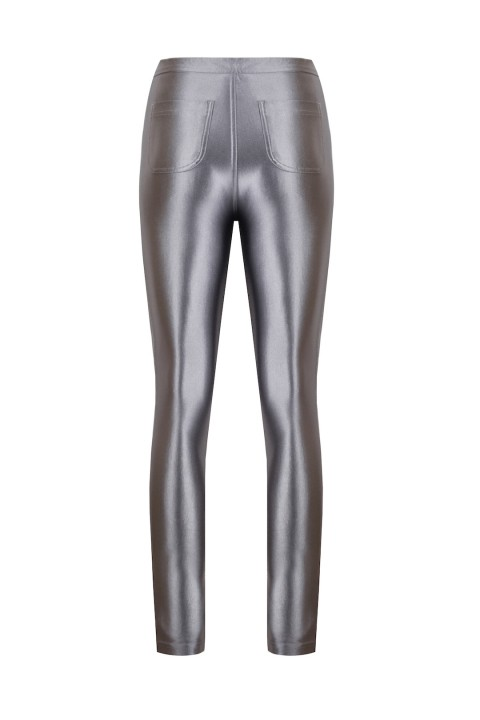Anais Margaux Paris Cecile Silver Shiny Pants