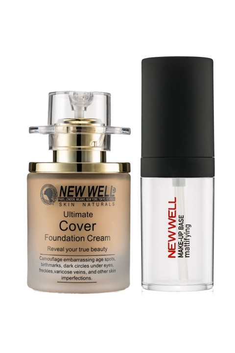 New Well  Newwell Cover Şişe Fondöten No:03 30 Ml + Makyaj Bazi 30 Ml