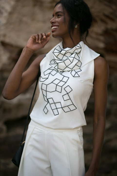 Betty & Sam White Blouse With Embroidery