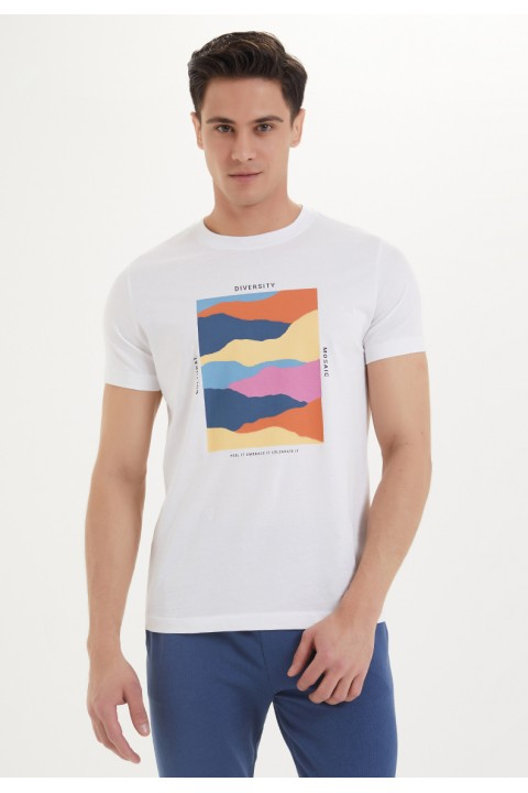 Westmark London Mosaic Tee Beyaz T-Shirt