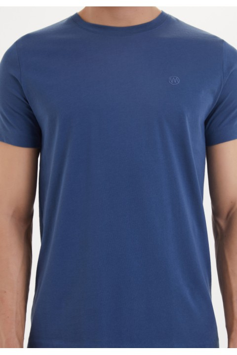Westmark London Essentials O-Neck T-Shirt İn Dark Denim Lacivert T-Shirt