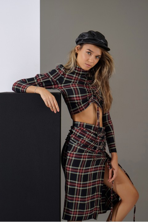 Maeve Blurred Lines Set Plaid