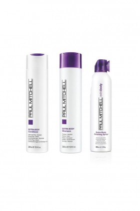 Paul Mitchell - Paul Mitchell Extra - Body Saç Kremi 300 ml+Şampuan 300 ml+Finishing Sprey 300 ml