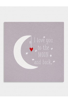 2Stories - I Love You To The Moon And Back Tablo Grı