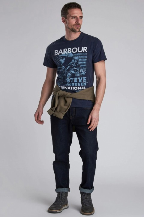 Barbour International B.Intl Collage Tshirt Navy