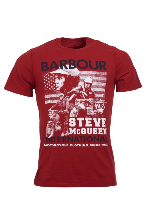 Barbour International B.Intl Collage Tshirt Washed Red