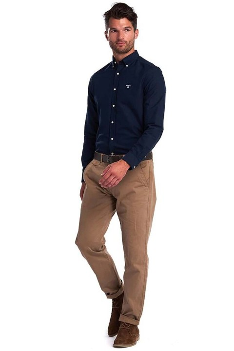 Barbour Barbour Oxford 3 Tailored Fit Shirt Navy