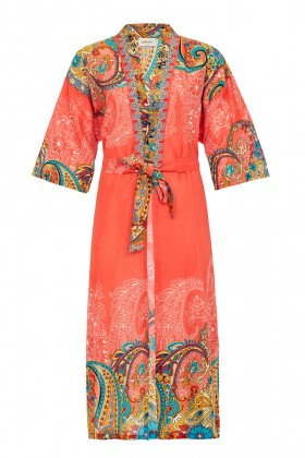Jade and Mate - Orange Ethnic - Uzun Kimono