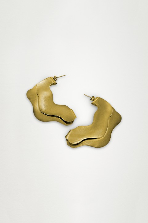 Unadorned Jewelry Design Gold The Wave Küpe